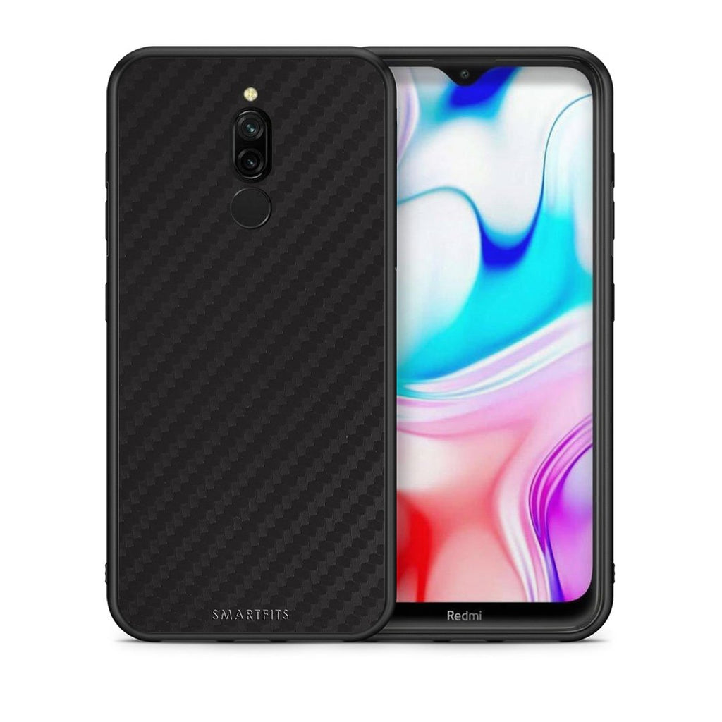 0 - Xiaomi Redmi 8 Black Carbon case, cover, bumper