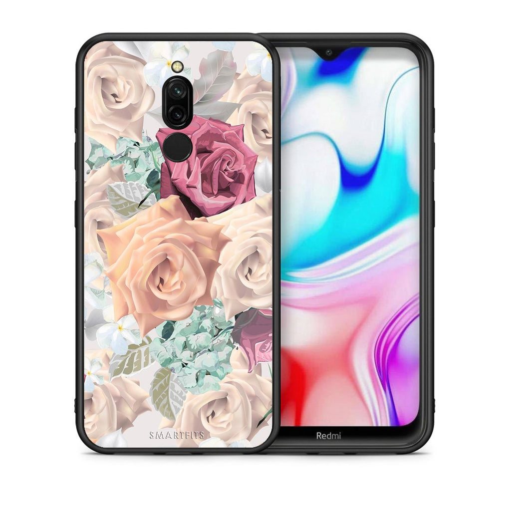 99 - Xiaomi Redmi 8 Bouquet Floral case, cover, bumper