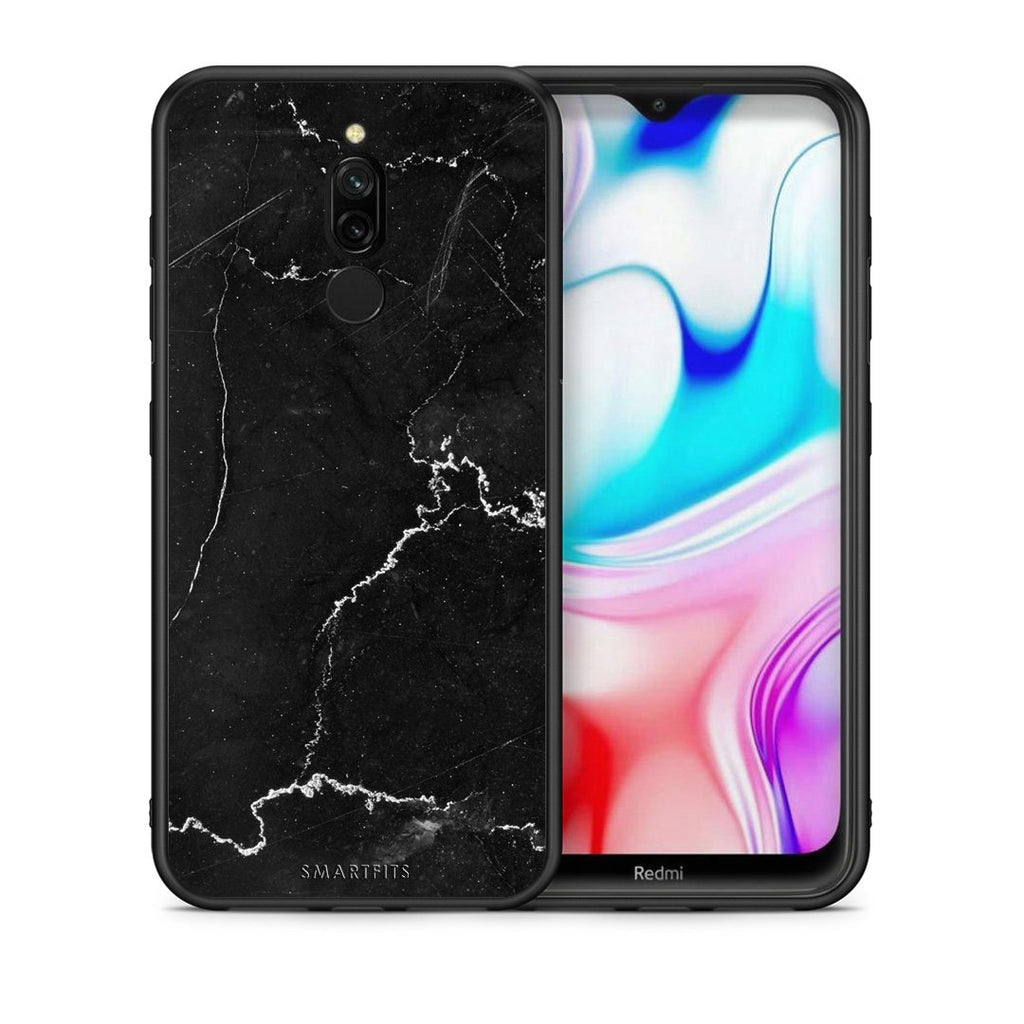 1 - Xiaomi Redmi 8 black marble case, cover, bumper