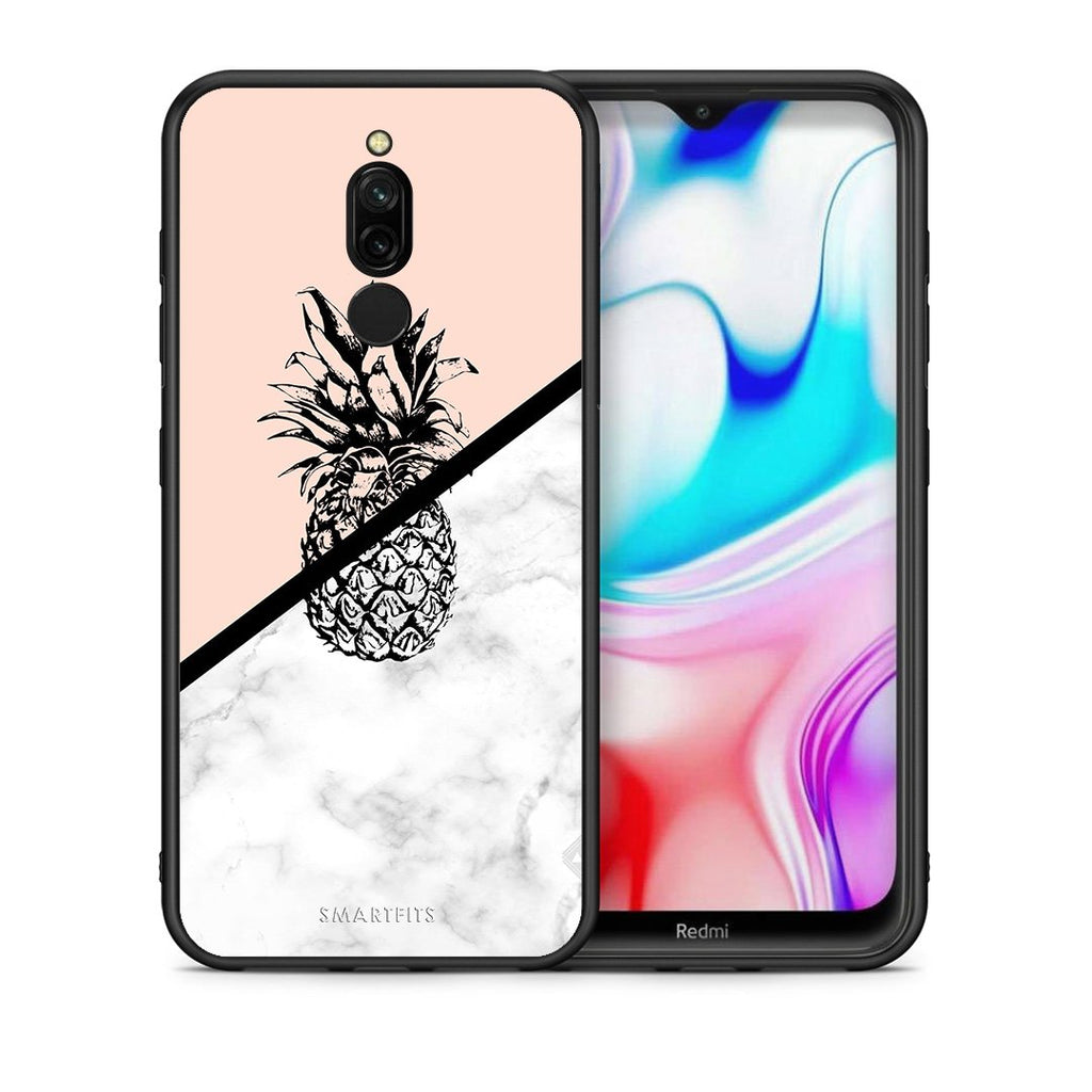 4 - Xiaomi Redmi 8 Pineapple Marble case, cover, bumper