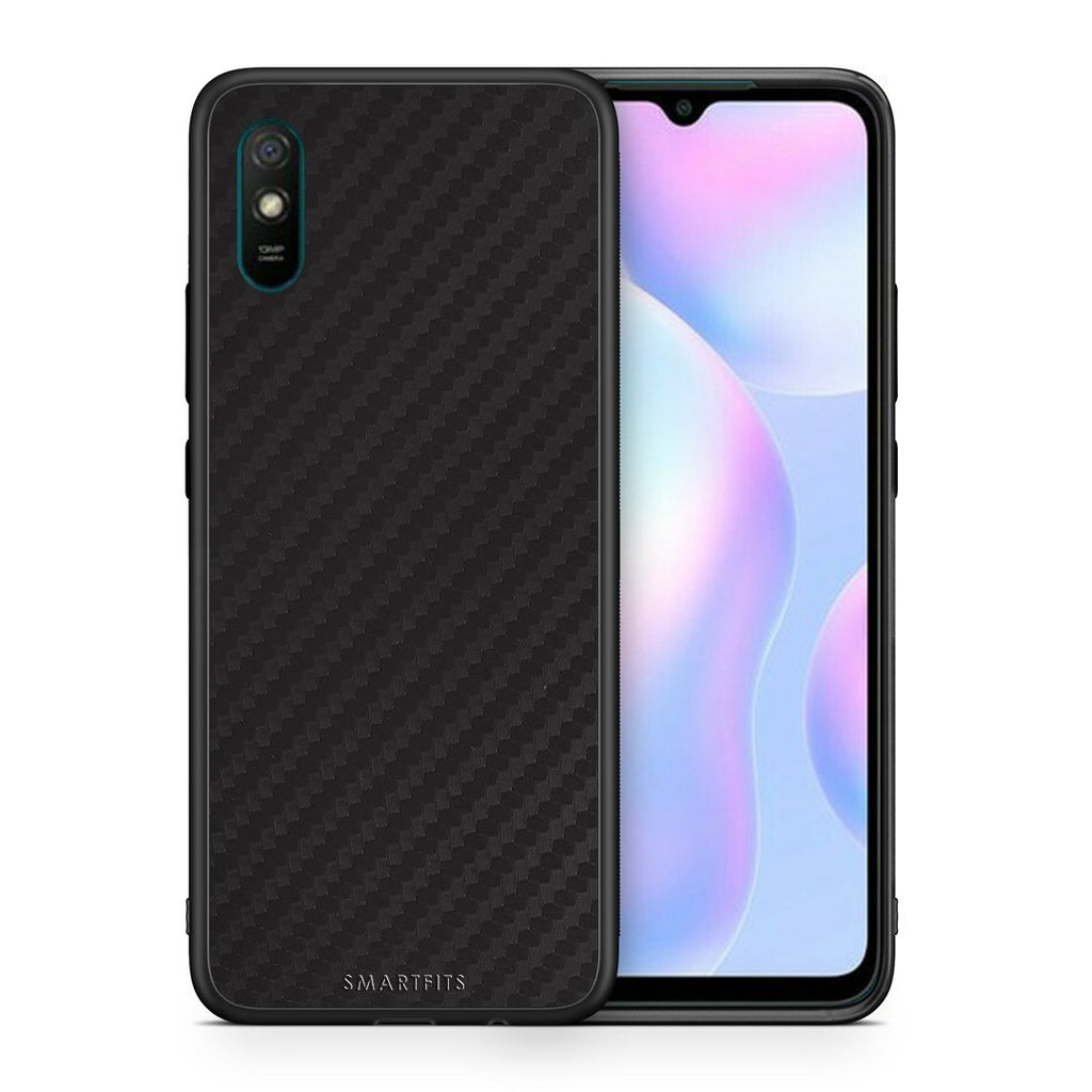 Θήκη Xiaomi Redmi 9A Black Carbon από τη Smartfits με σχέδιο στο πίσω μέρος και μαύρο περίβλημα | Xiaomi Redmi 9A Black Carbon case with colorful back and black bezels