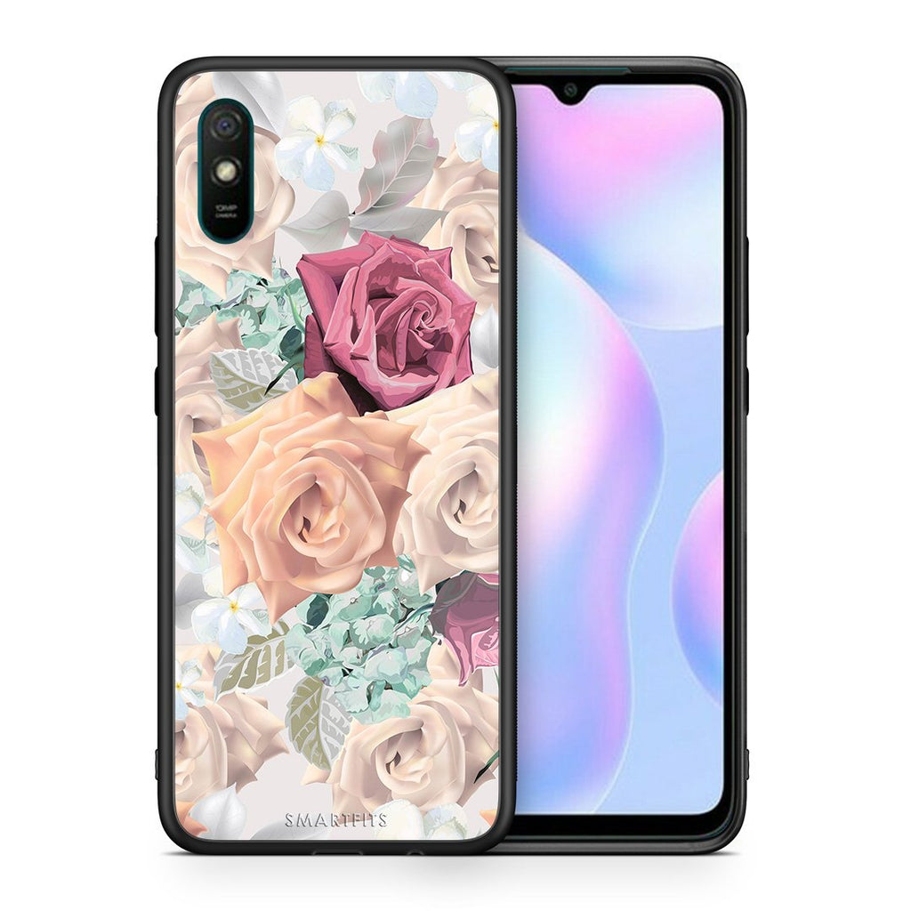 Θήκη Xiaomi Redmi 9A Bouquet Floral από τη Smartfits με σχέδιο στο πίσω μέρος και μαύρο περίβλημα | Xiaomi Redmi 9A Bouquet Floral case with colorful back and black bezels