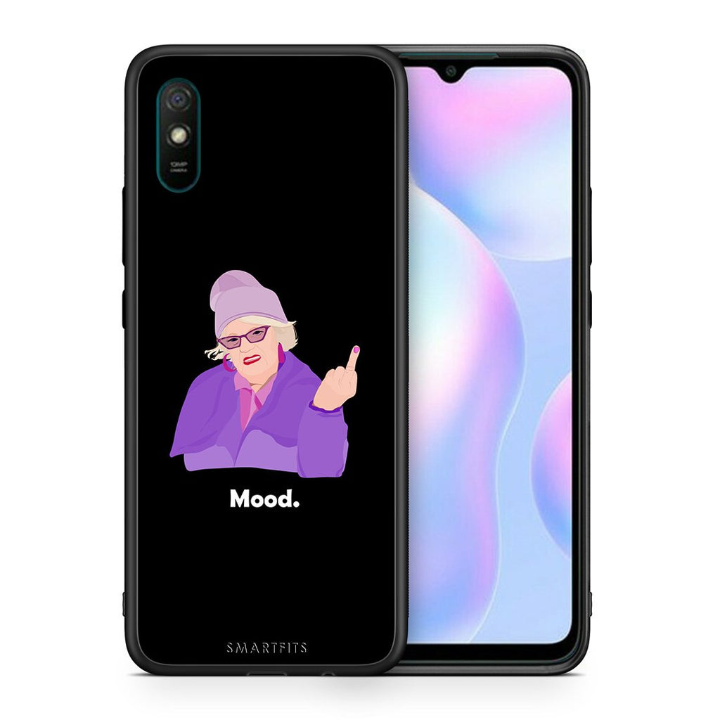 Θήκη Xiaomi Redmi 9A Grandma Mood Black από τη Smartfits με σχέδιο στο πίσω μέρος και μαύρο περίβλημα | Xiaomi Redmi 9A Grandma Mood Black case with colorful back and black bezels