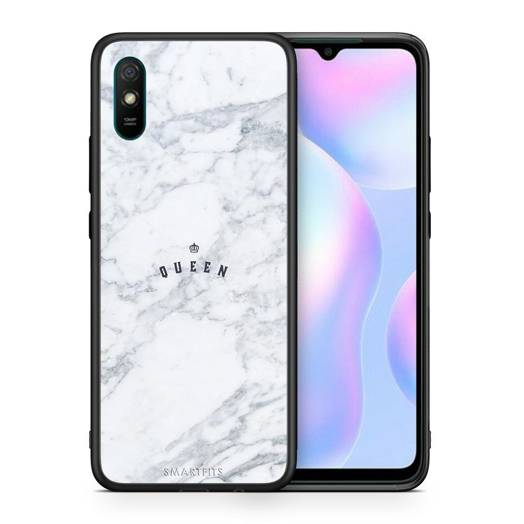 Θήκη Xiaomi Redmi 9A Queen Marble από τη Smartfits με σχέδιο στο πίσω μέρος και μαύρο περίβλημα | Xiaomi Redmi 9A Queen Marble case with colorful back and black bezels