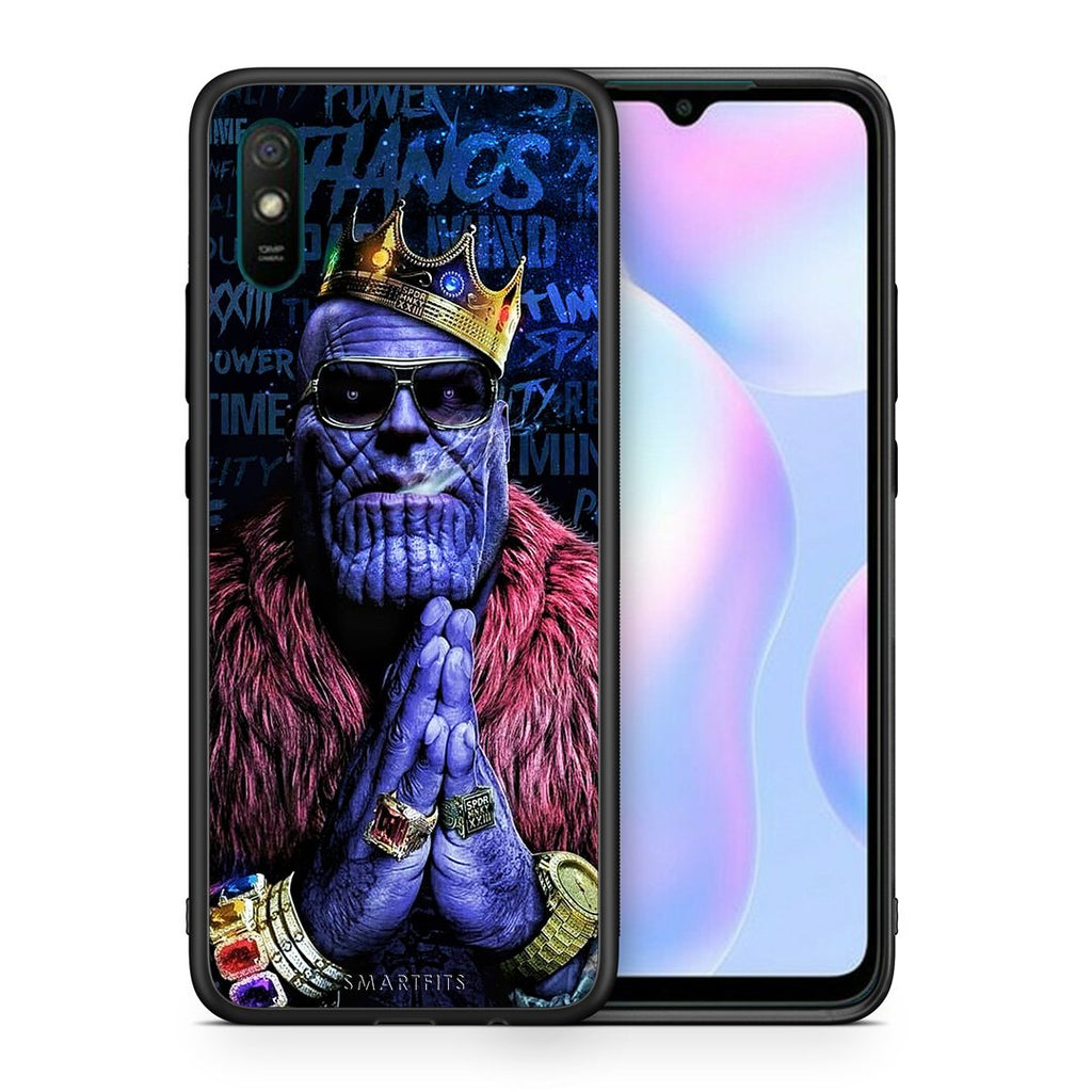 Θήκη Xiaomi Redmi 9A Thanos PopArt από τη Smartfits με σχέδιο στο πίσω μέρος και μαύρο περίβλημα | Xiaomi Redmi 9A Thanos PopArt case with colorful back and black bezels