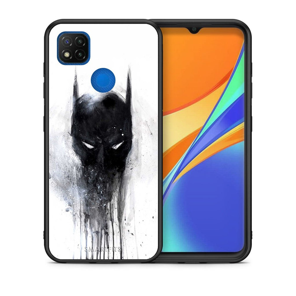 Θήκη Xiaomi Redmi 9C Paint Bat Hero από τη Smartfits με σχέδιο στο πίσω μέρος και μαύρο περίβλημα | Xiaomi Redmi 9C Paint Bat Hero case with colorful back and black bezels