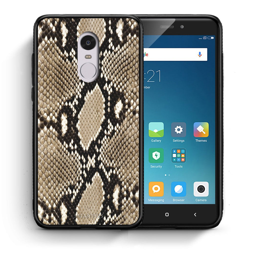 23 - Xiaomi Redmi Note 4/4X Fashion Snake Animal case, cover, bumper