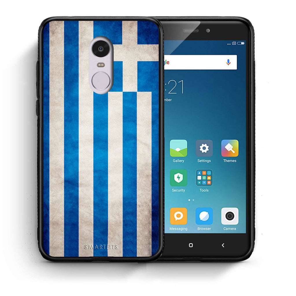 4 - Xiaomi Redmi Note 4/4X Greece Flag case, cover, bumper