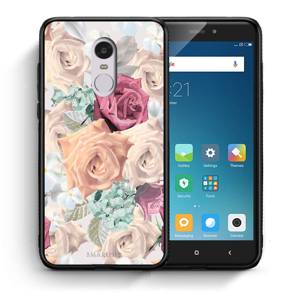 99 - Xiaomi Redmi Note 4/4X Bouquet Floral case, cover, bumper