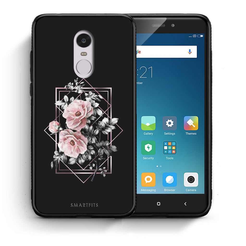 4 - Xiaomi Redmi Note 4/4X Frame Flower case, cover, bumper