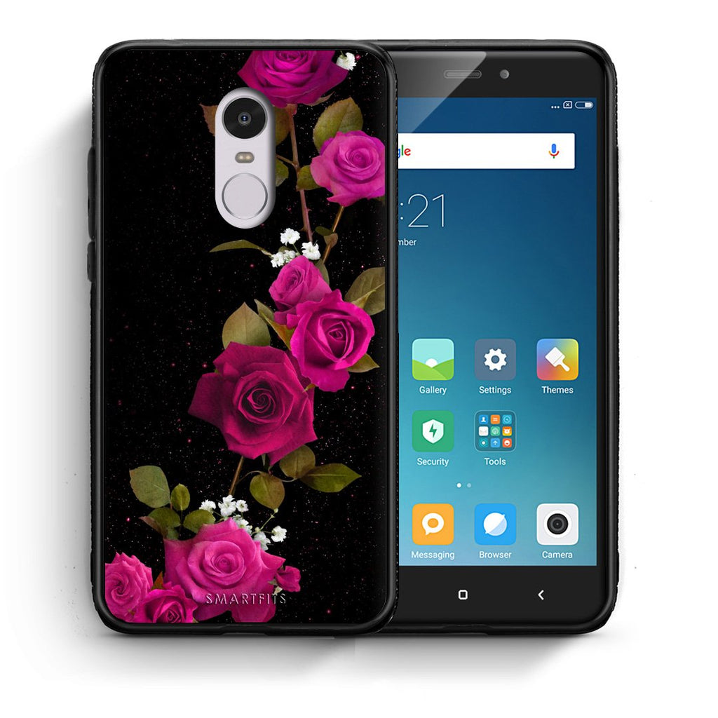 4 - Xiaomi Redmi Note 4/4X Red Roses Flower case, cover, bumper