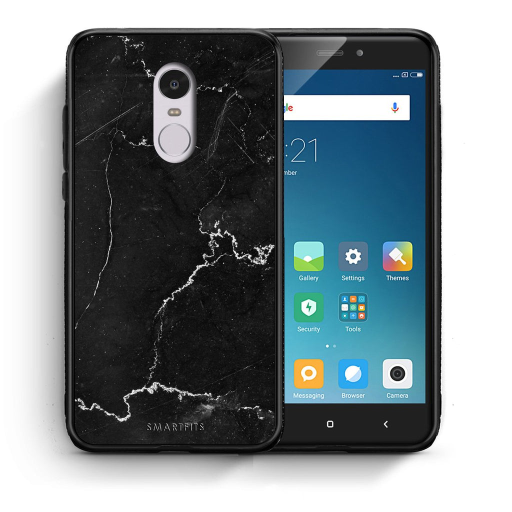 1 - Xiaomi Redmi Note 4/4X black marble case, cover, bumper