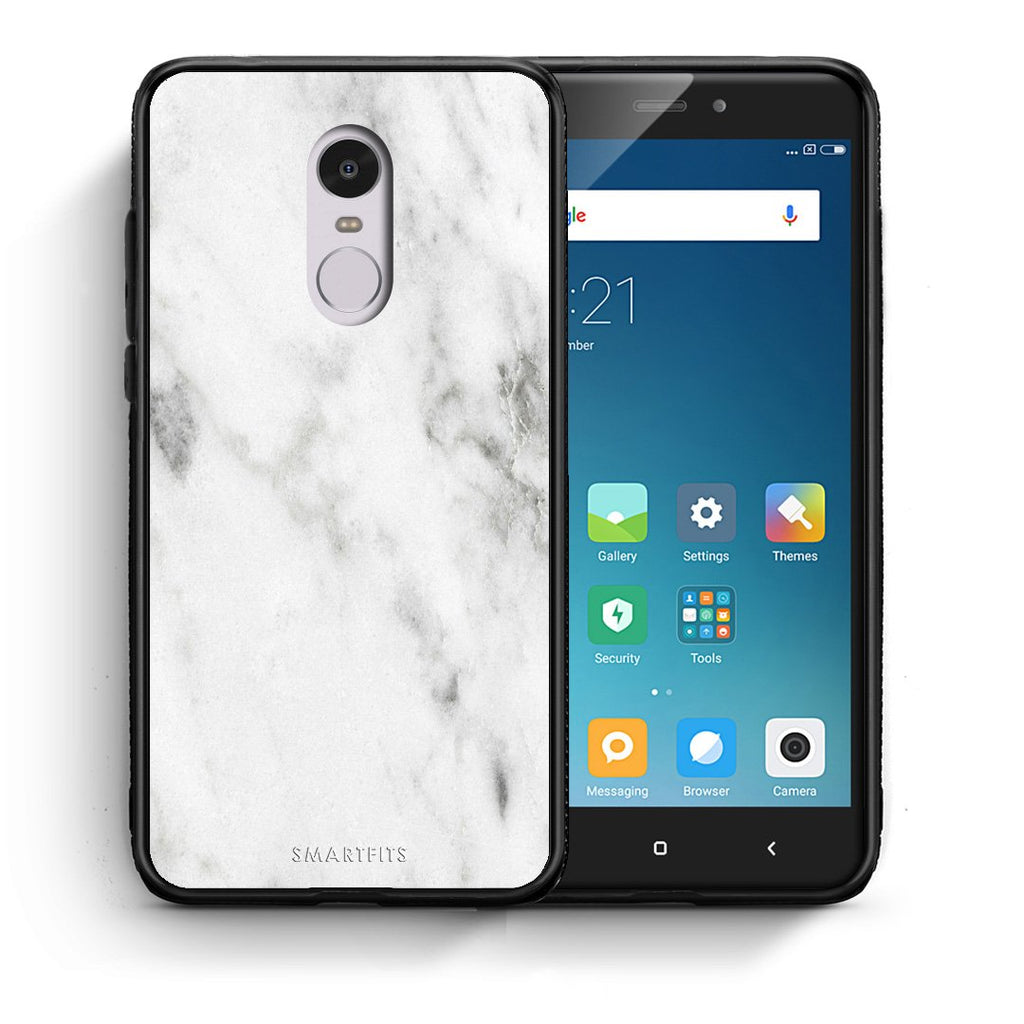 2 - Xiaomi Redmi Note 4/4X White marble case, cover, bumper