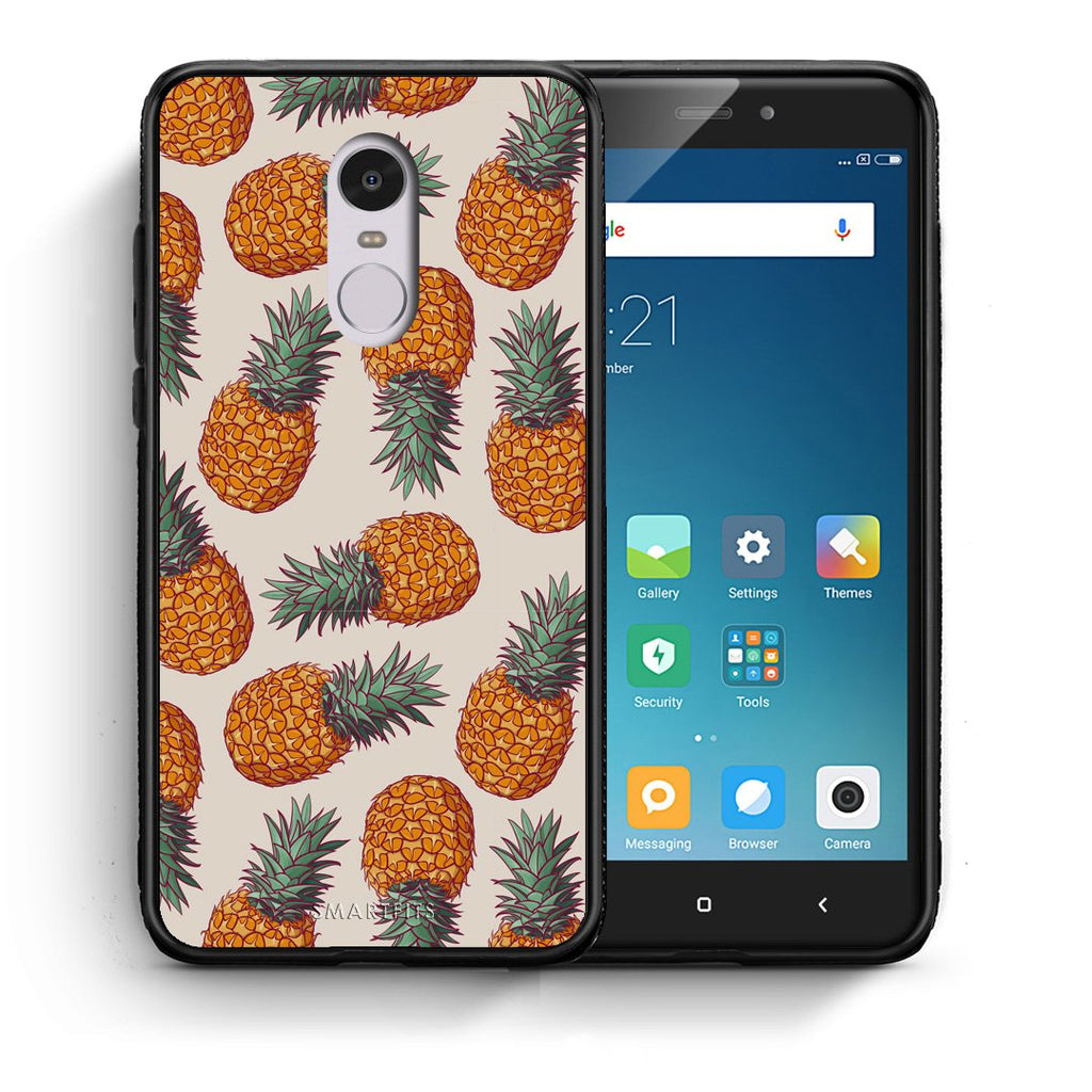 99 - Xiaomi Redmi Note 4/4X Summer Real Pineapples case, cover, bumper