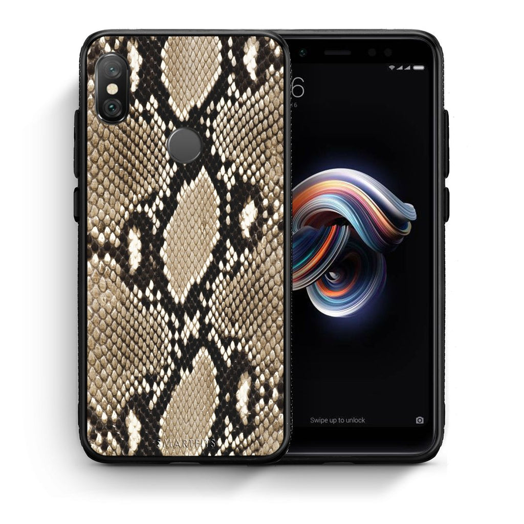 23 - Xiaomi Redmi Note 5 Fashion Snake Animal case, cover, bumper