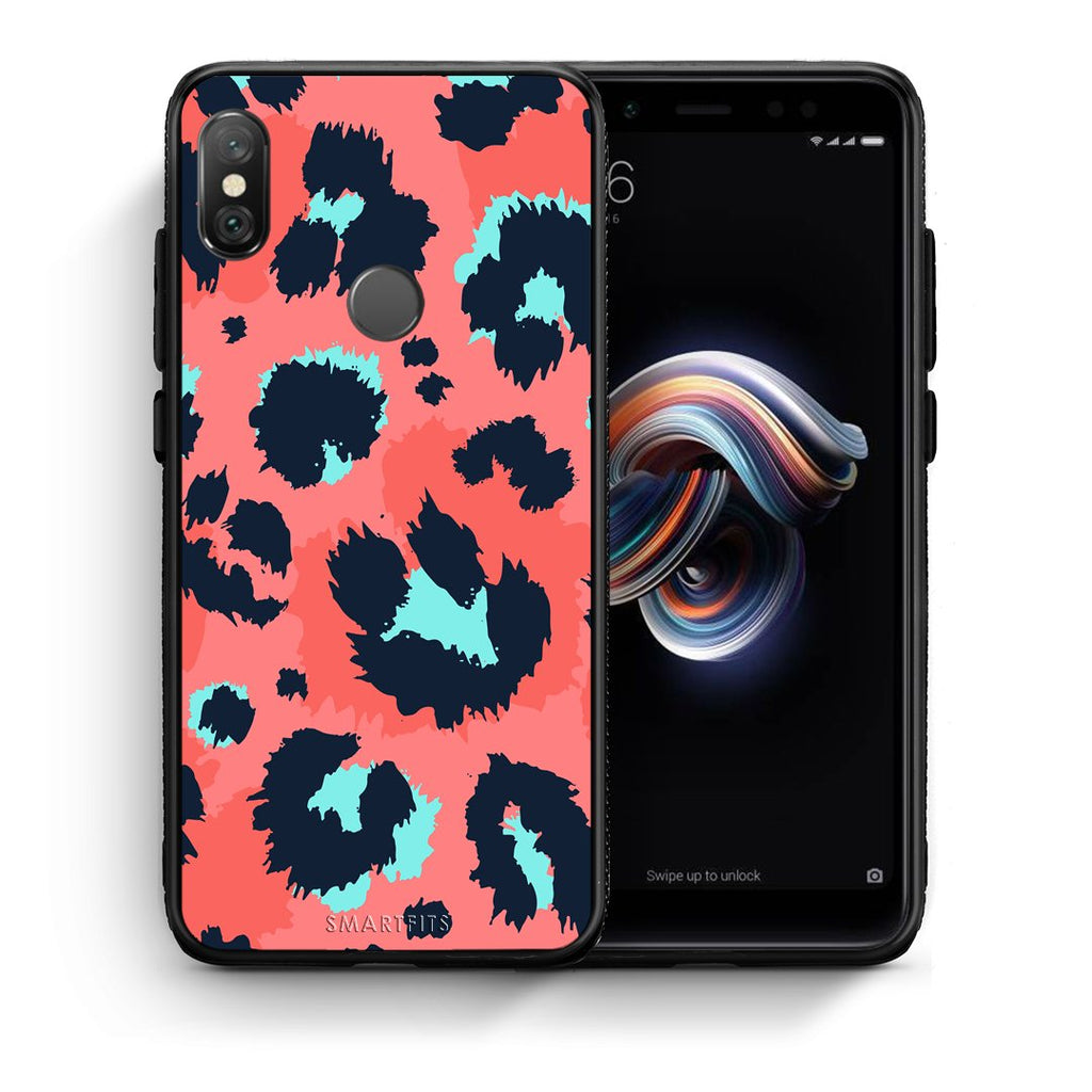 22 - Xiaomi Redmi Note 5 Pink Leopard Animal case, cover, bumper