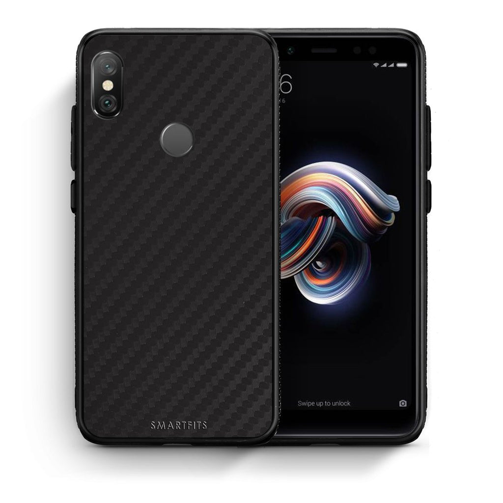0 - Xiaomi Redmi Note 5 Black Carbon case, cover, bumper