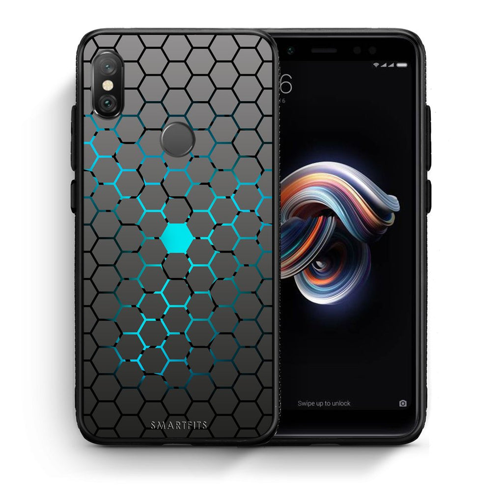 40 - Xiaomi Redmi Note 5 Hexagonal Geometric case, cover, bumper