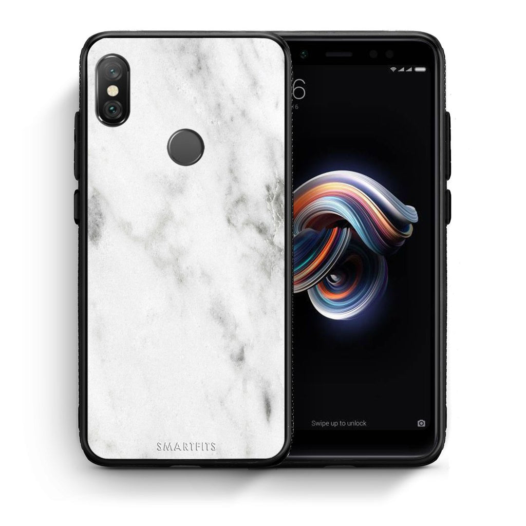 2 - Xiaomi Redmi Note 5 White marble case, cover, bumper