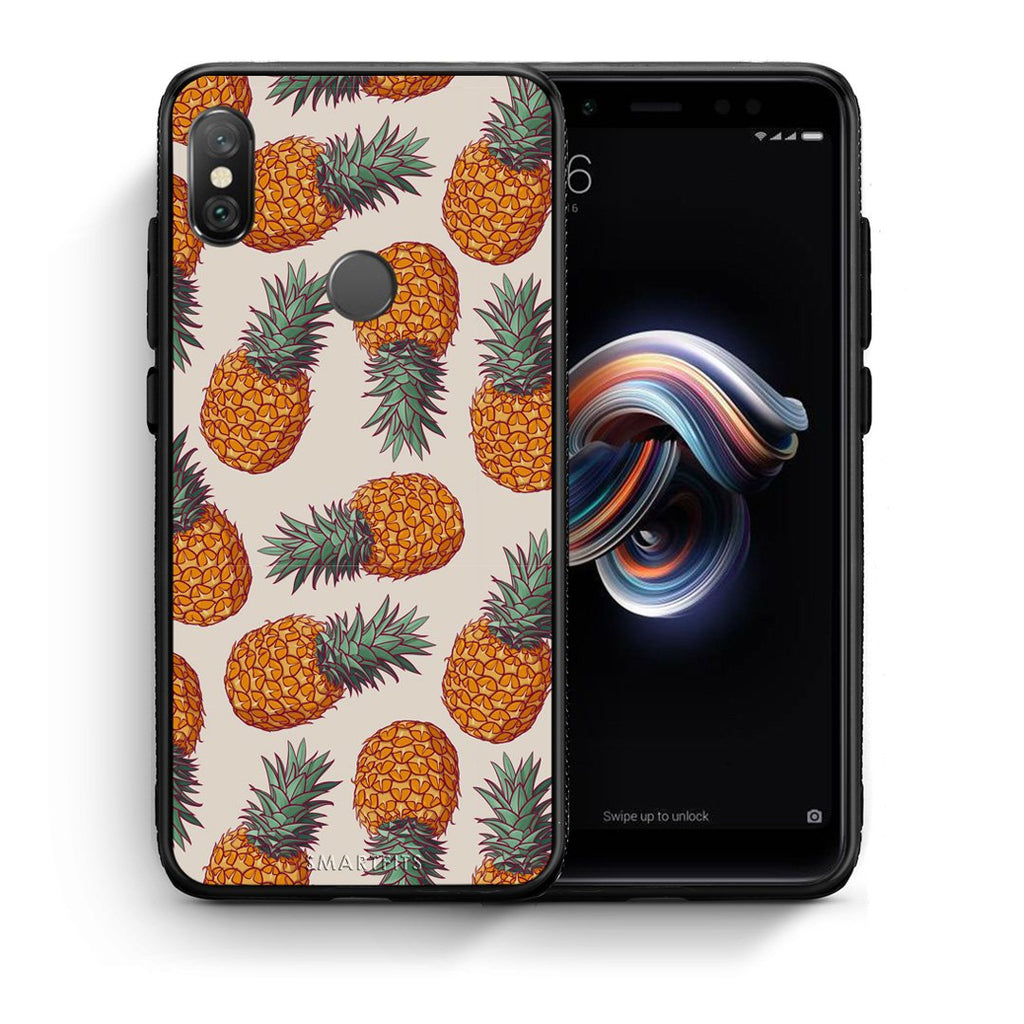 99 - Xiaomi Redmi Note 5 Summer Real Pineapples case, cover, bumper