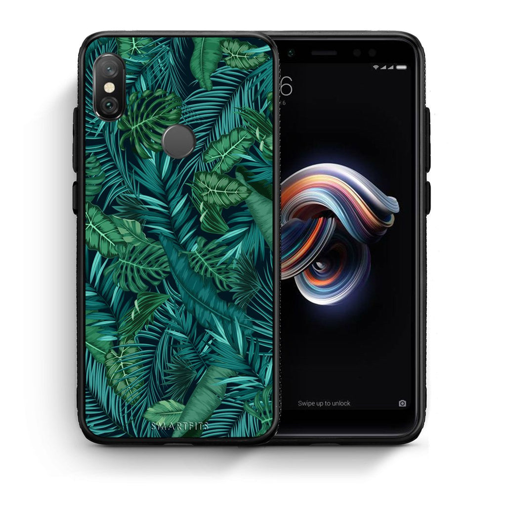 99 - Xiaomi Redmi Note 5 Tropic Leaves case, cover, bumper