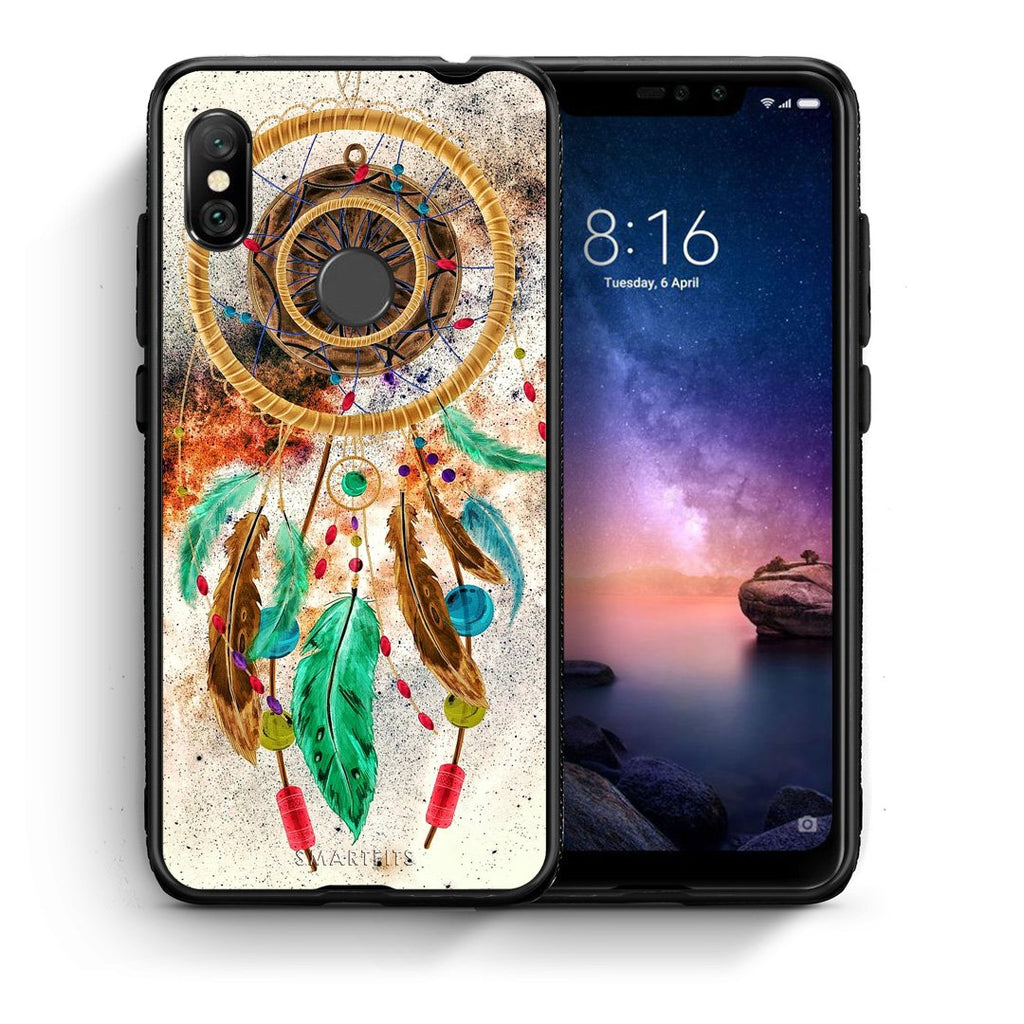 4 - Xiaomi Redmi Note 6 Pro DreamCatcher Boho case, cover, bumper