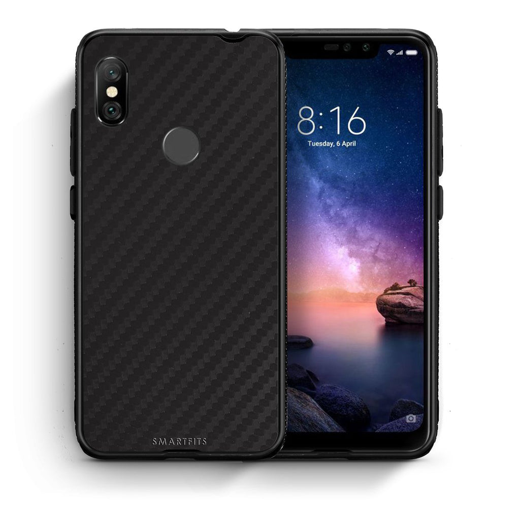 0 - Xiaomi Redmi Note 6 Pro  Black Carbon case, cover, bumper