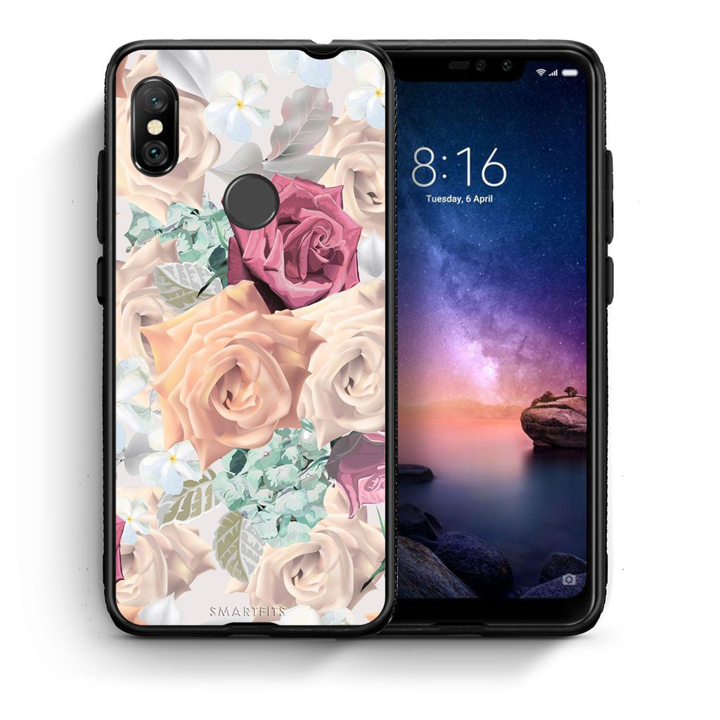 99 - Xiaomi Redmi Note 6 Pro  Bouquet Floral case, cover, bumper