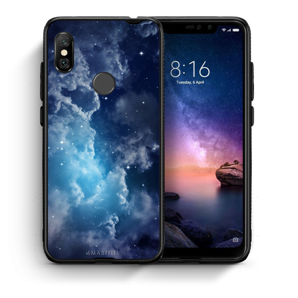 104 - Xiaomi Redmi Note 6 Pro  Blue Sky Galaxy case, cover, bumper