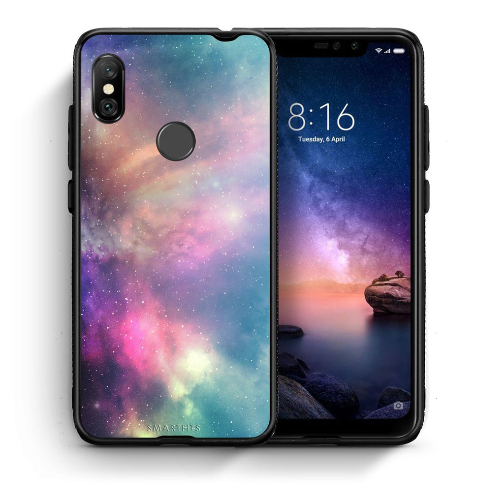 105 - Xiaomi Redmi Note 6 Pro  Rainbow Galaxy case, cover, bumper