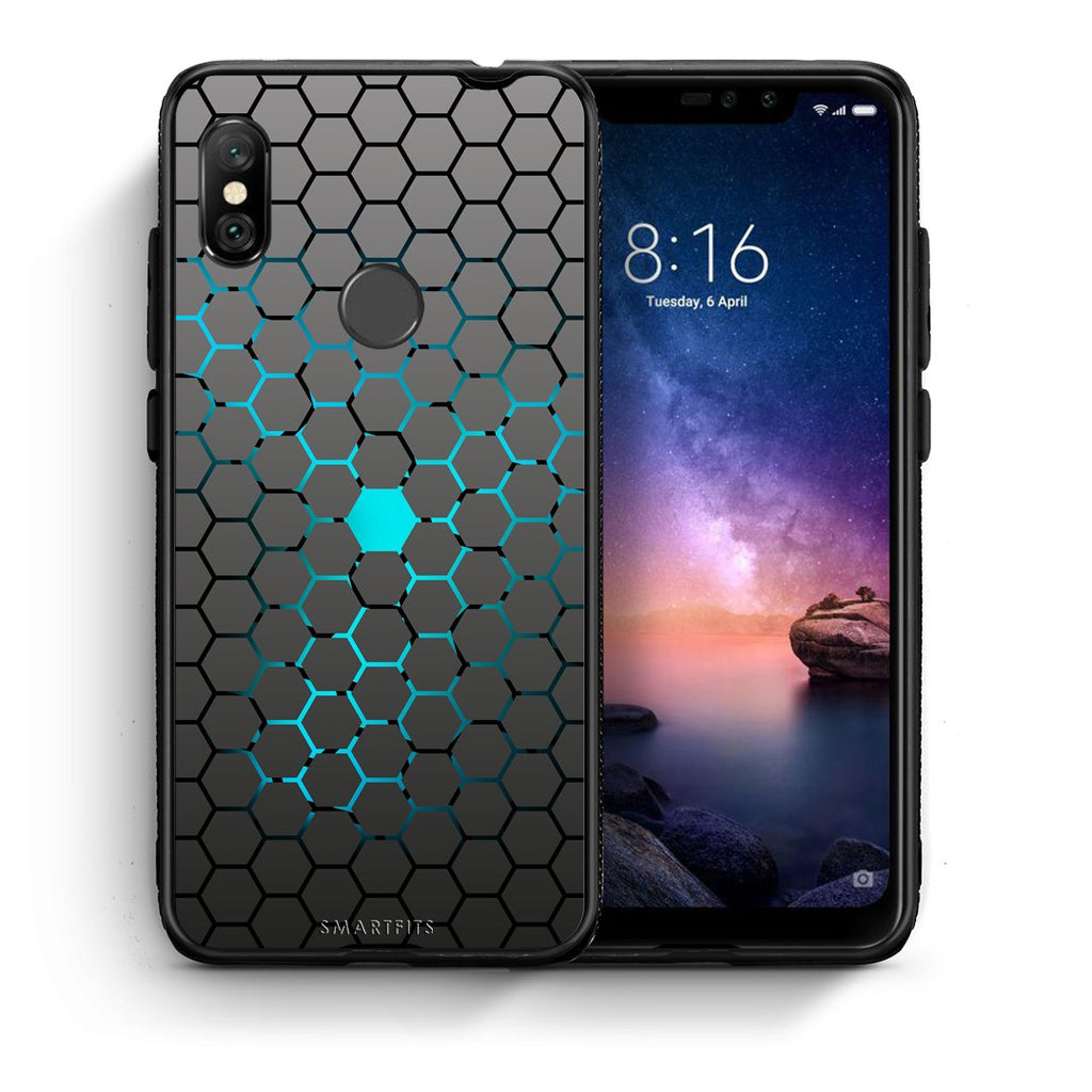 40 - Xiaomi Redmi Note 6 Pro  Hexagonal Geometric case, cover, bumper