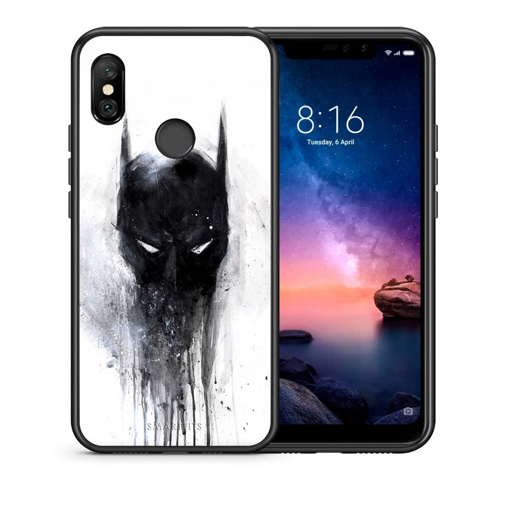 4 - Xiaomi Redmi Note 6 Pro Paint Bat Hero case, cover, bumper
