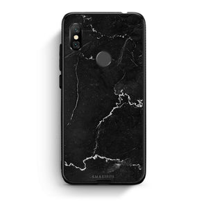 1 - Xiaomi Redmi Note 6 Pro  black marble case, cover, bumper