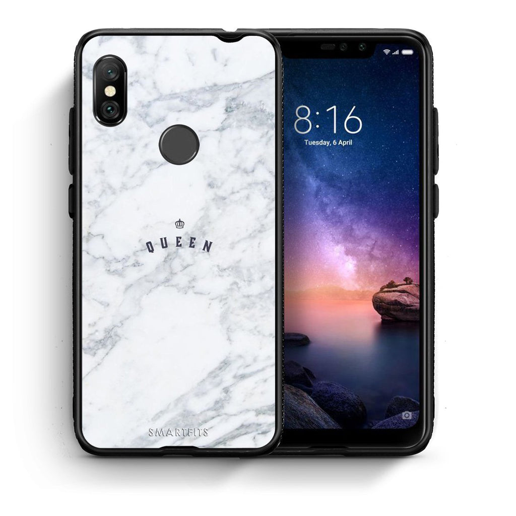 4 - Xiaomi Redmi Note 6 Pro Queen Marble case, cover, bumper