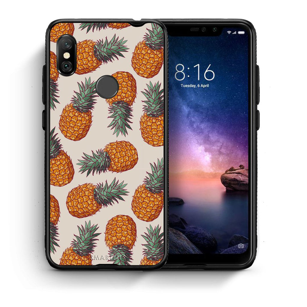 99 - Xiaomi Redmi Note 6 Pro  Summer Real Pineapples case, cover, bumper