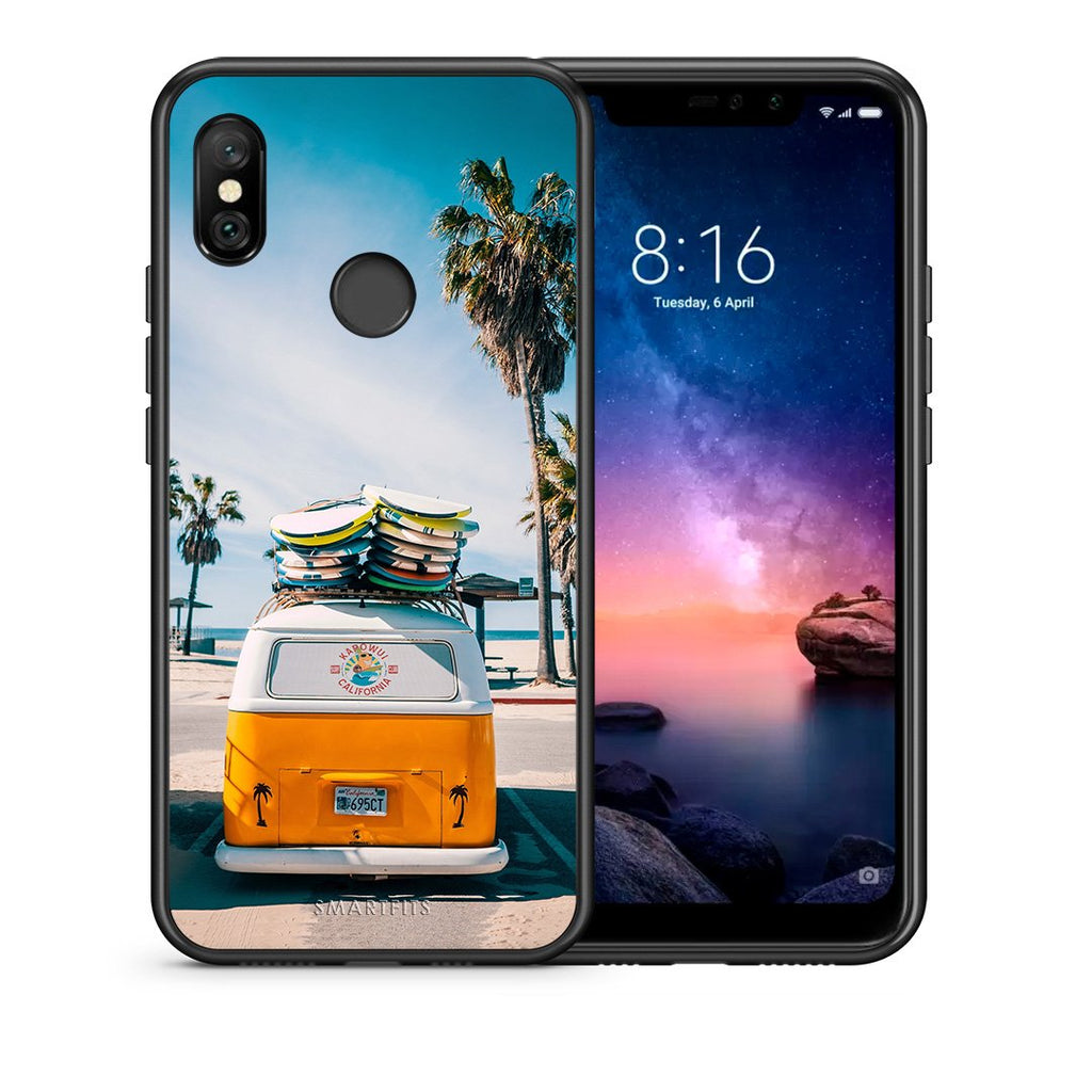 4 - Xiaomi Redmi Note 6 Pro Travel Summer case, cover, bumper