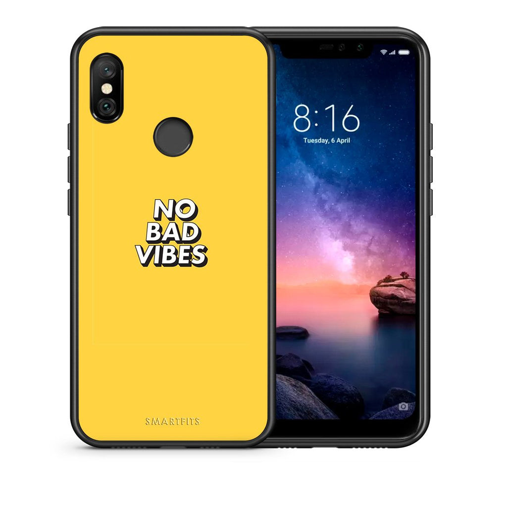 4 - Xiaomi Redmi Note 6 Pro Vibes Text case, cover, bumper