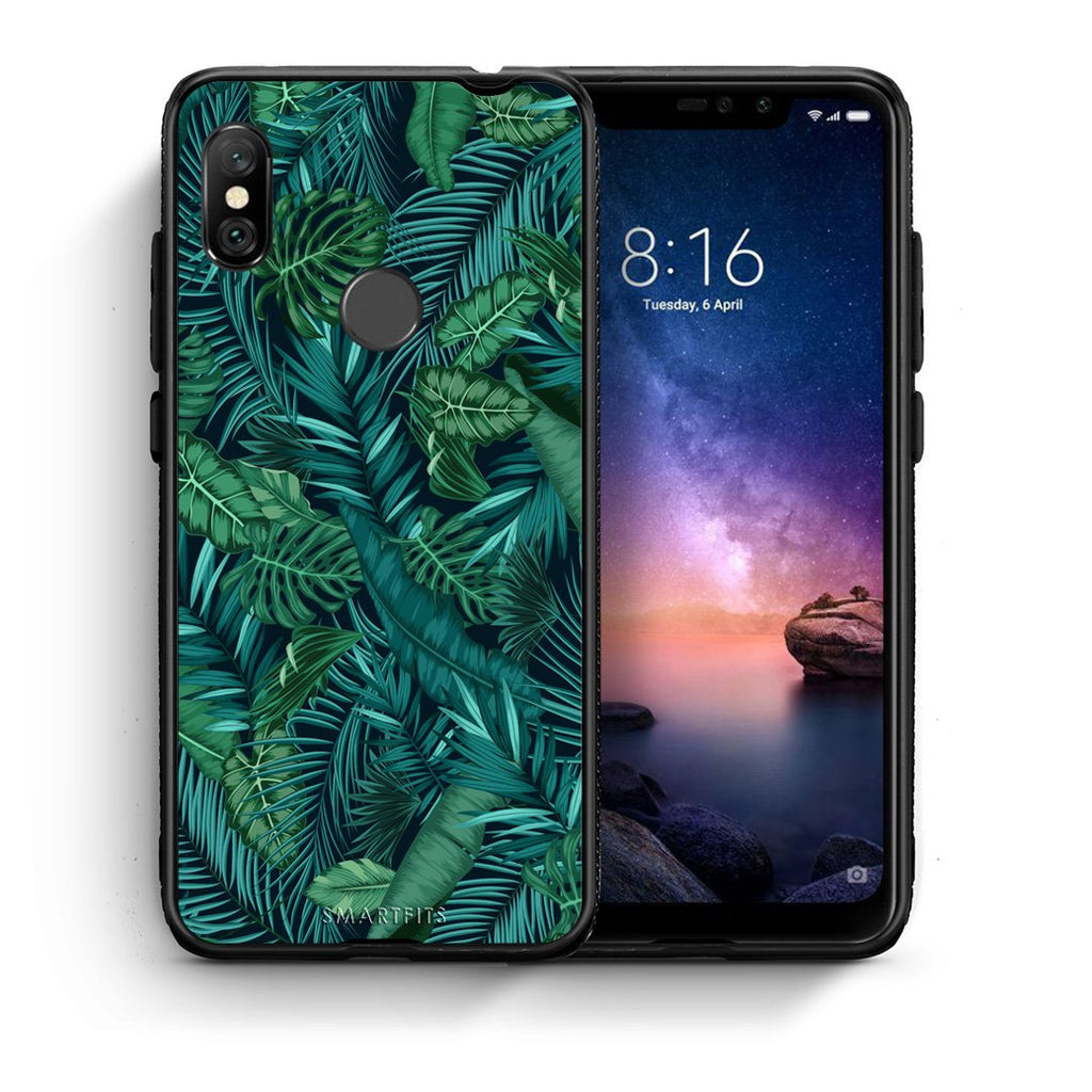 99 - Xiaomi Redmi Note 6 Pro  Tropic Leaves case, cover, bumper