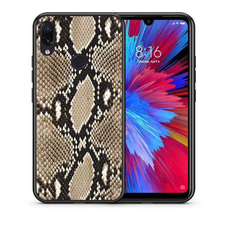 23 - Xiaomi Redmi Note 7  Fashion Snake Animal case, cover, bumper