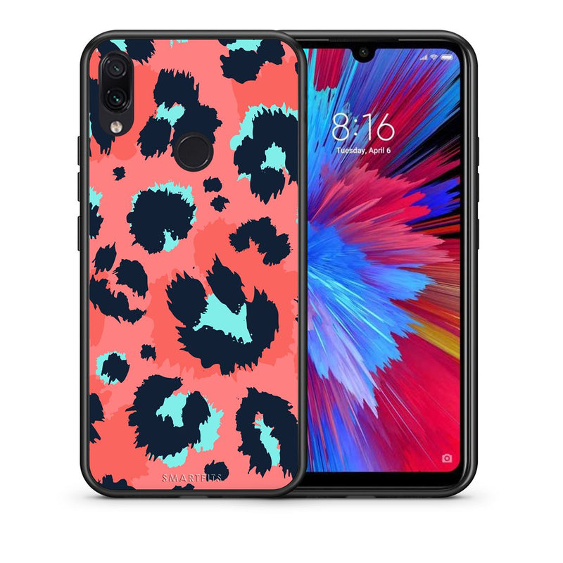 22 - Xiaomi Redmi Note 7  Pink Leopard Animal case, cover, bumper
