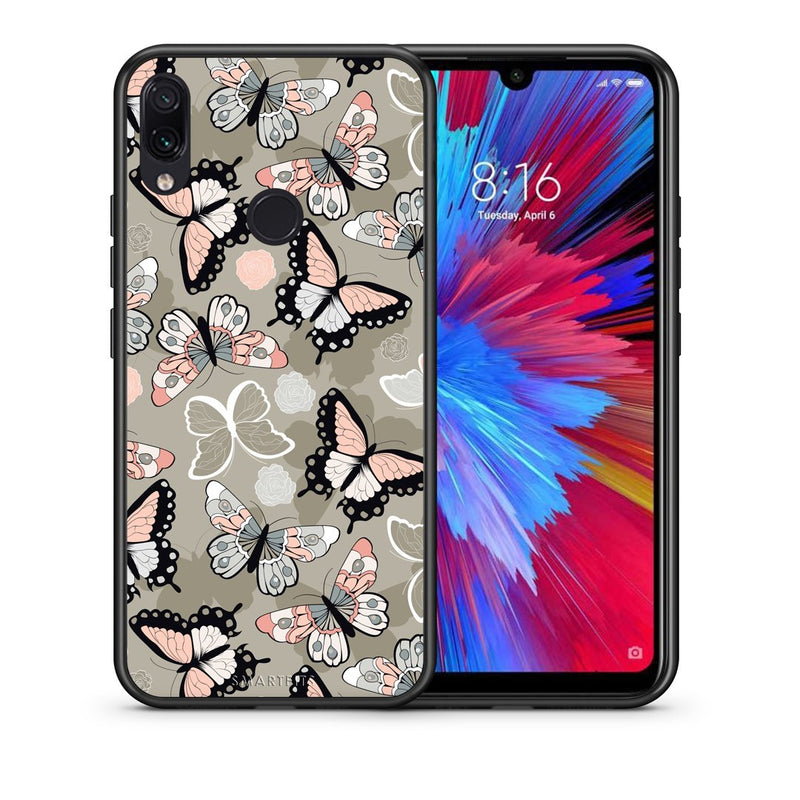 135 - Xiaomi Redmi Note 7  Butterflies Boho case, cover, bumper