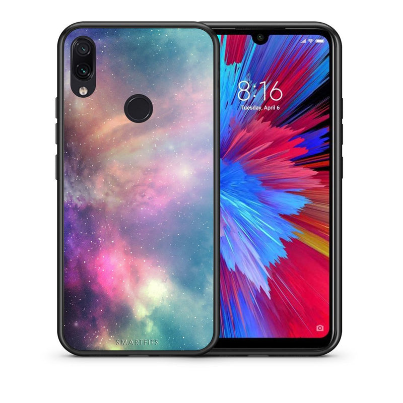 105 - Xiaomi Redmi Note 7  Rainbow Galaxy case, cover, bumper