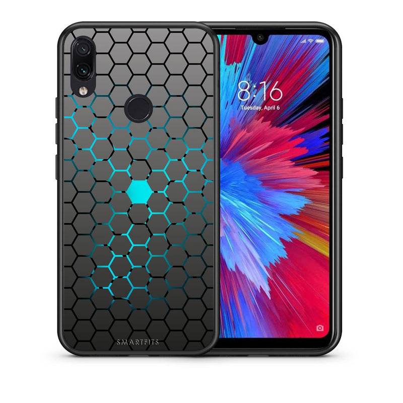 40 - Xiaomi Redmi Note 7  Hexagonal Geometric case, cover, bumper