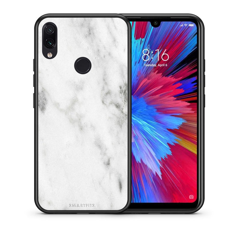 2 - Xiaomi Redmi Note 7  White marble case, cover, bumper