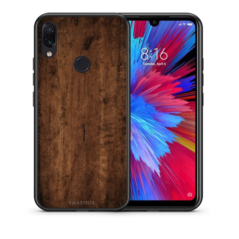 84 - Xiaomi Redmi Note 7  Dark Wood case, cover, bumper