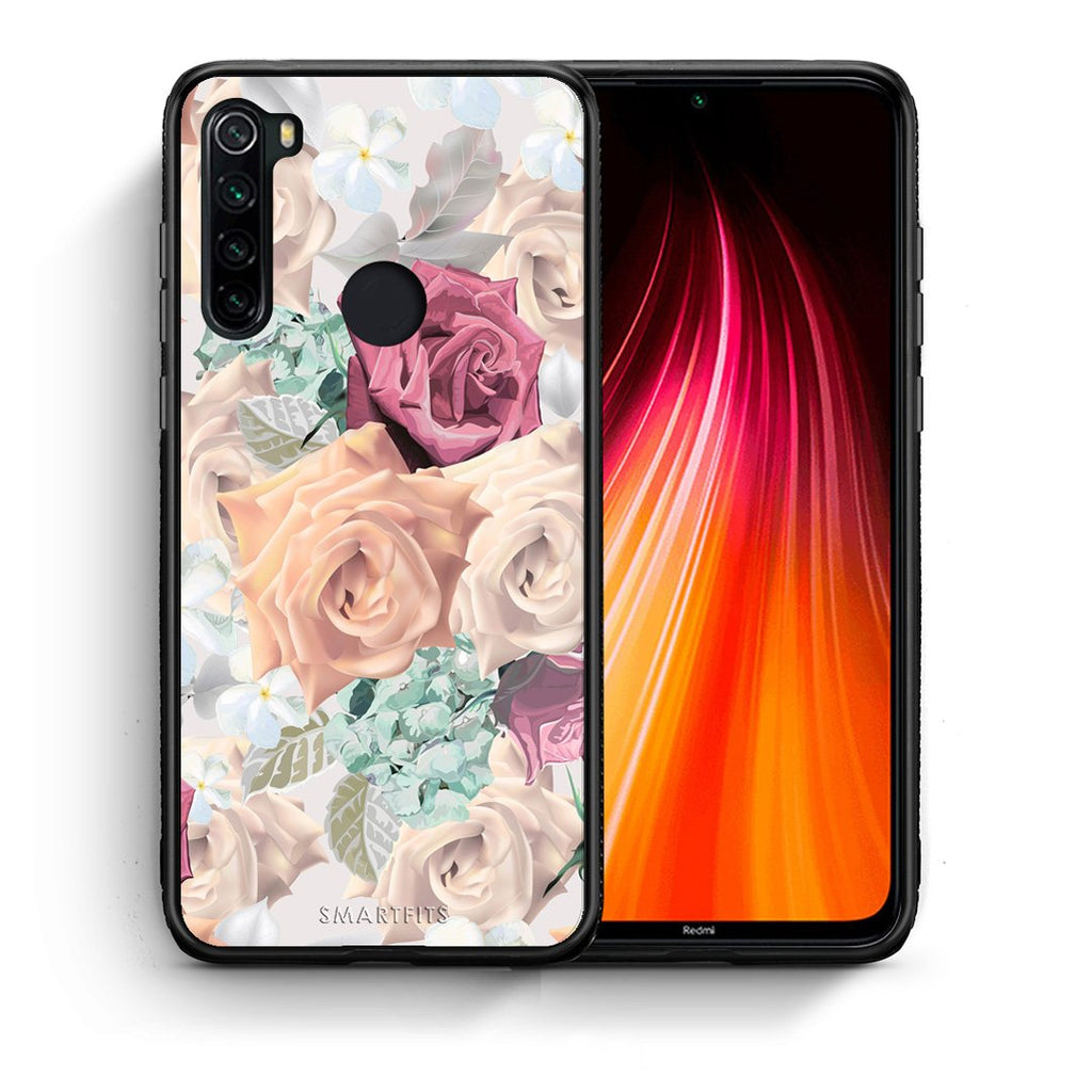 99 - Xiaomi Redmi Note 8 Bouquet Floral case, cover, bumper
