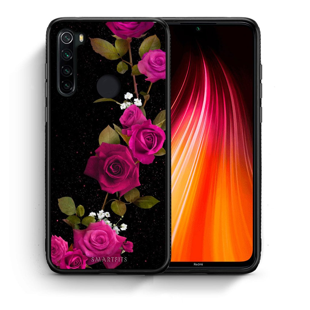 4 - Xiaomi Redmi Note 8 Red Roses Flower case, cover, bumper