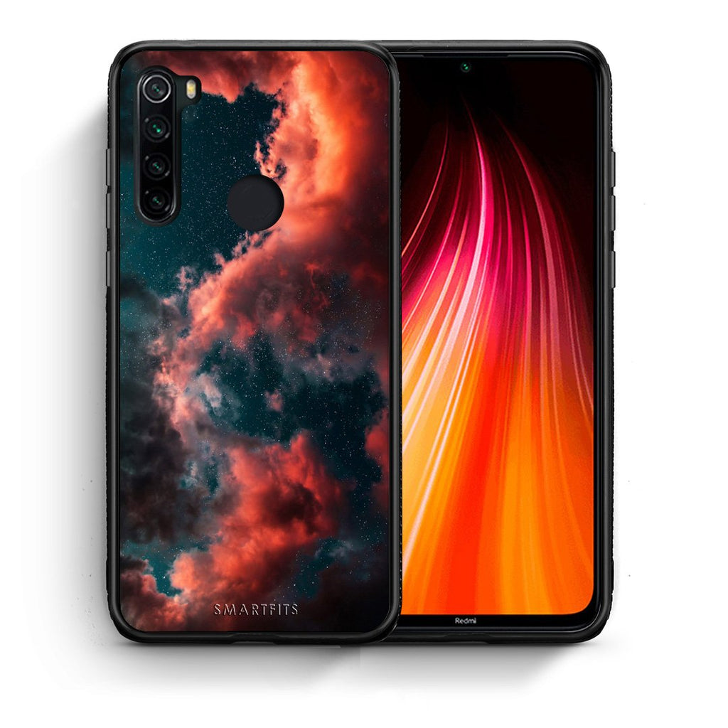 Θήκη Xiaomi Redmi Note 8 Cloud Galaxy από τη Smartfits με σχέδιο στο πίσω μέρος και μαύρο περίβλημα | Xiaomi Redmi Note 8 Cloud Galaxy case with colorful back and black bezels