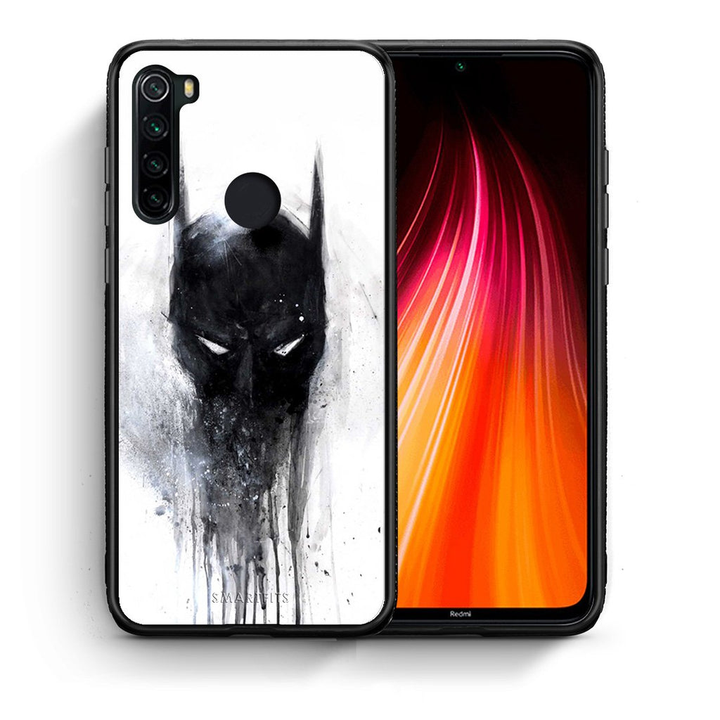 Θήκη Xiaomi Redmi Note 8 Paint Bat Hero από τη Smartfits με σχέδιο στο πίσω μέρος και μαύρο περίβλημα | Xiaomi Redmi Note 8 Paint Bat Hero case with colorful back and black bezels