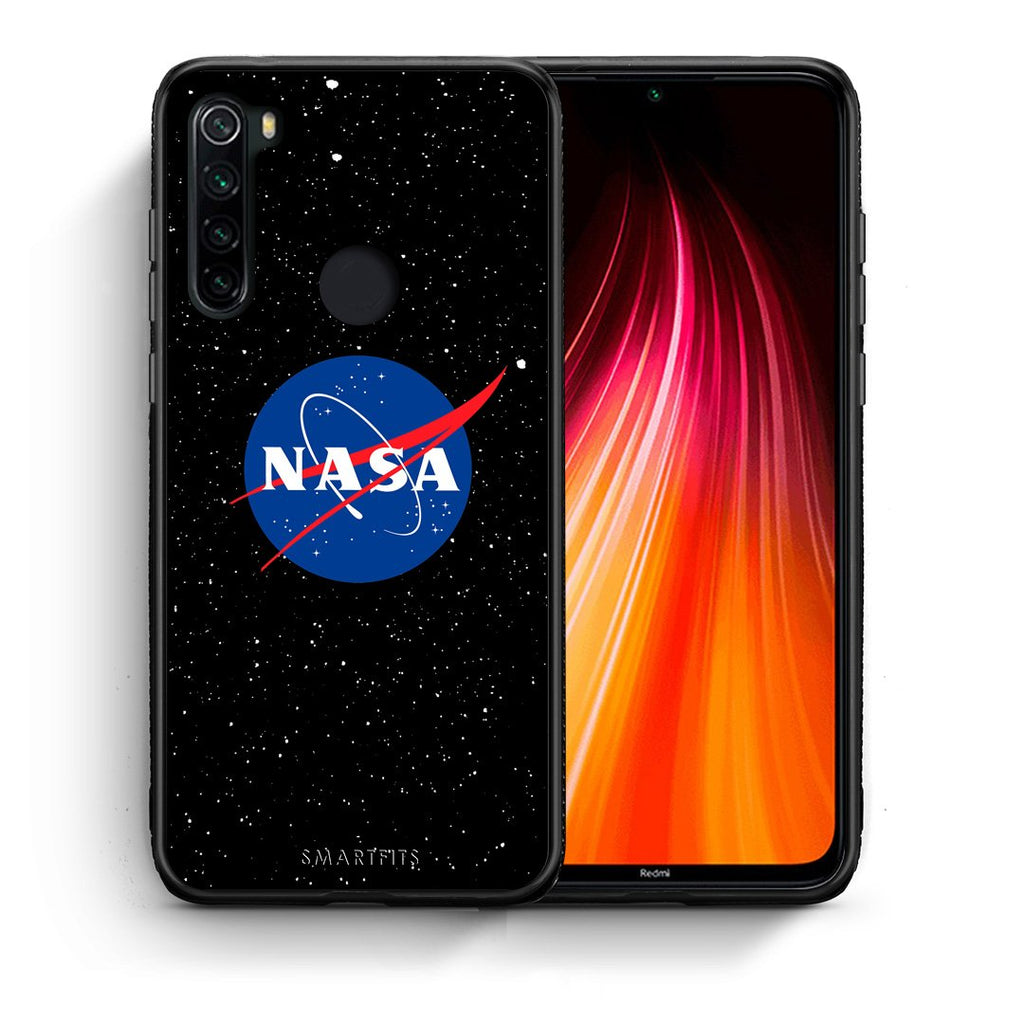 Θήκη Xiaomi Redmi Note 8 NASA PopArt από τη Smartfits με σχέδιο στο πίσω μέρος και μαύρο περίβλημα | Xiaomi Redmi Note 8 NASA PopArt case with colorful back and black bezels